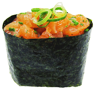 Foto Gunkan Salmon (Spicy)